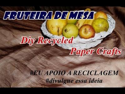 Artesanato com jornal FRUTEIRA # Diy Recycled paper Crafts
