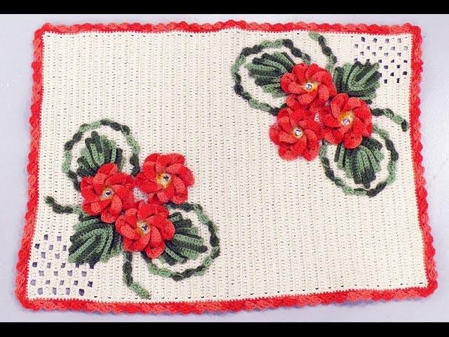 Programa Arte Brasil - 08.01.2015 - Maria José - Tapete Laço Flores em Crochê
