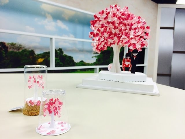 Programa Arte Brasil - 29.04.2015 - Naomi Uezu - Mini Árvore em Kirigami
