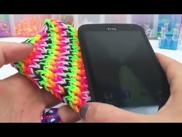 Como fazer capa de celular com elastico HTC One - Case para celular feitas de elásticos