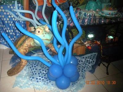 Procurando Nemo no Espaço em Festa.