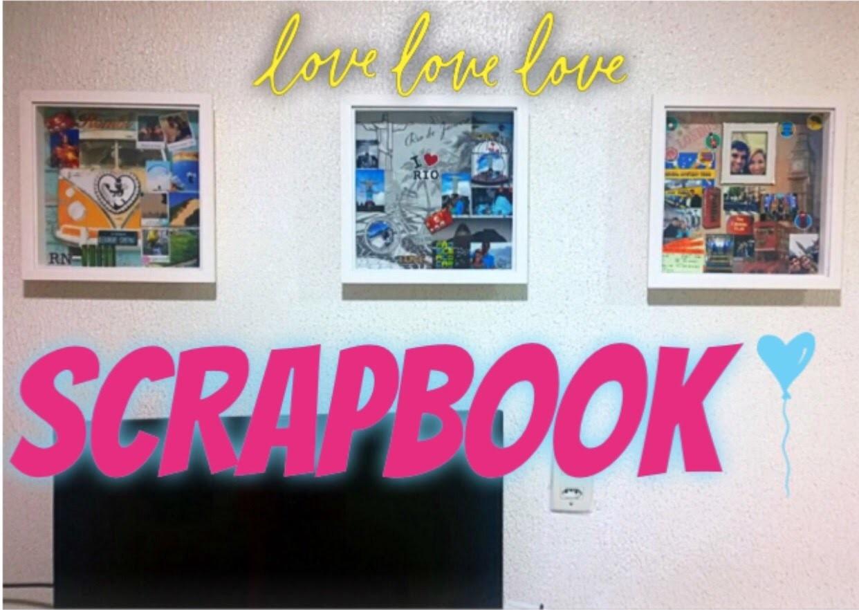 Como fazer um scrapbook. scrapbook de viagem. recordação com scrapbok. DIY