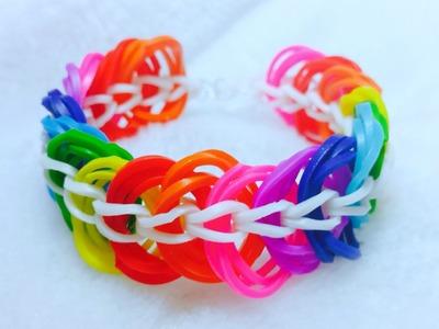 Rainbow Loom-Pulseira de Elástico com os DEDOS-GOMITAS SEM TEAR-LOOM BANDS