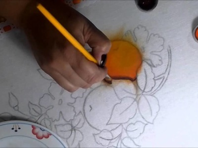 Pintando laranja, sombreando e iluminando.