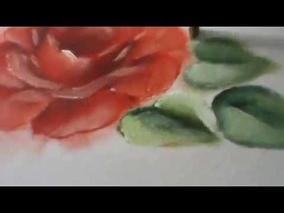 Rosa Vermelha - Pintura em tecido