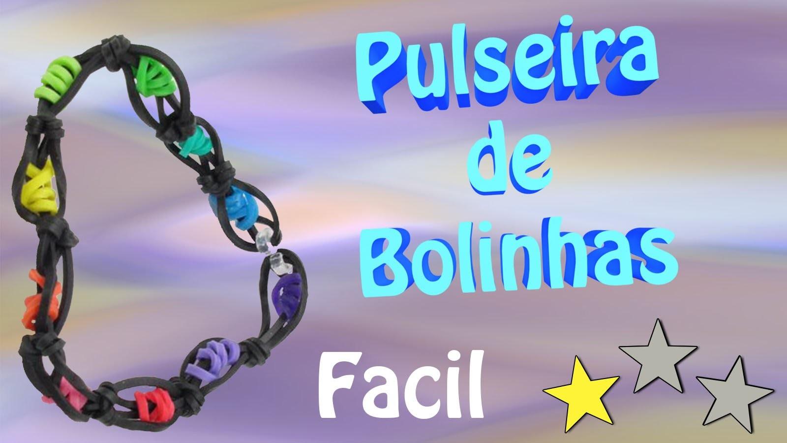 Pulseira de Bolinhas de elasticos coloridos loom bands