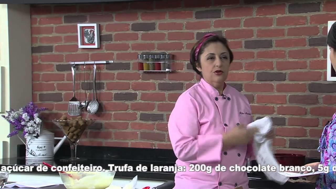 24.09.2014 Receitas Bom Sabor - Mini Tortinha Trufa de Laranja e Sorvete de Chocolate