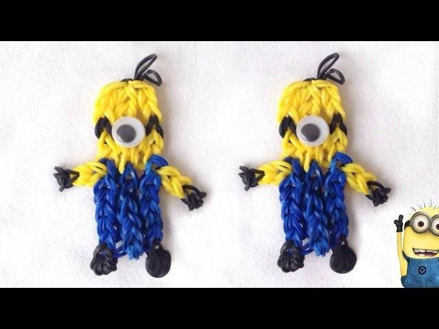 Boneco Minion de Elástico, aprenda a fazer (sem tear) | Igor Saringer
