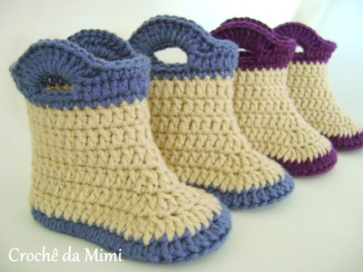 Botinha crochê - Booties for baby made ​​in crochet