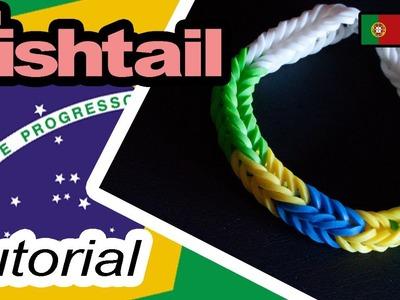 BRASIL - FishtTail Rainbow Loom Bracelet Tutorial (PT.BR)