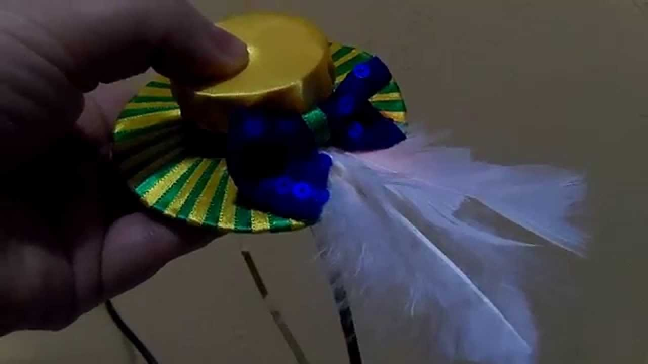 Como fazer mini chapéu para tiara