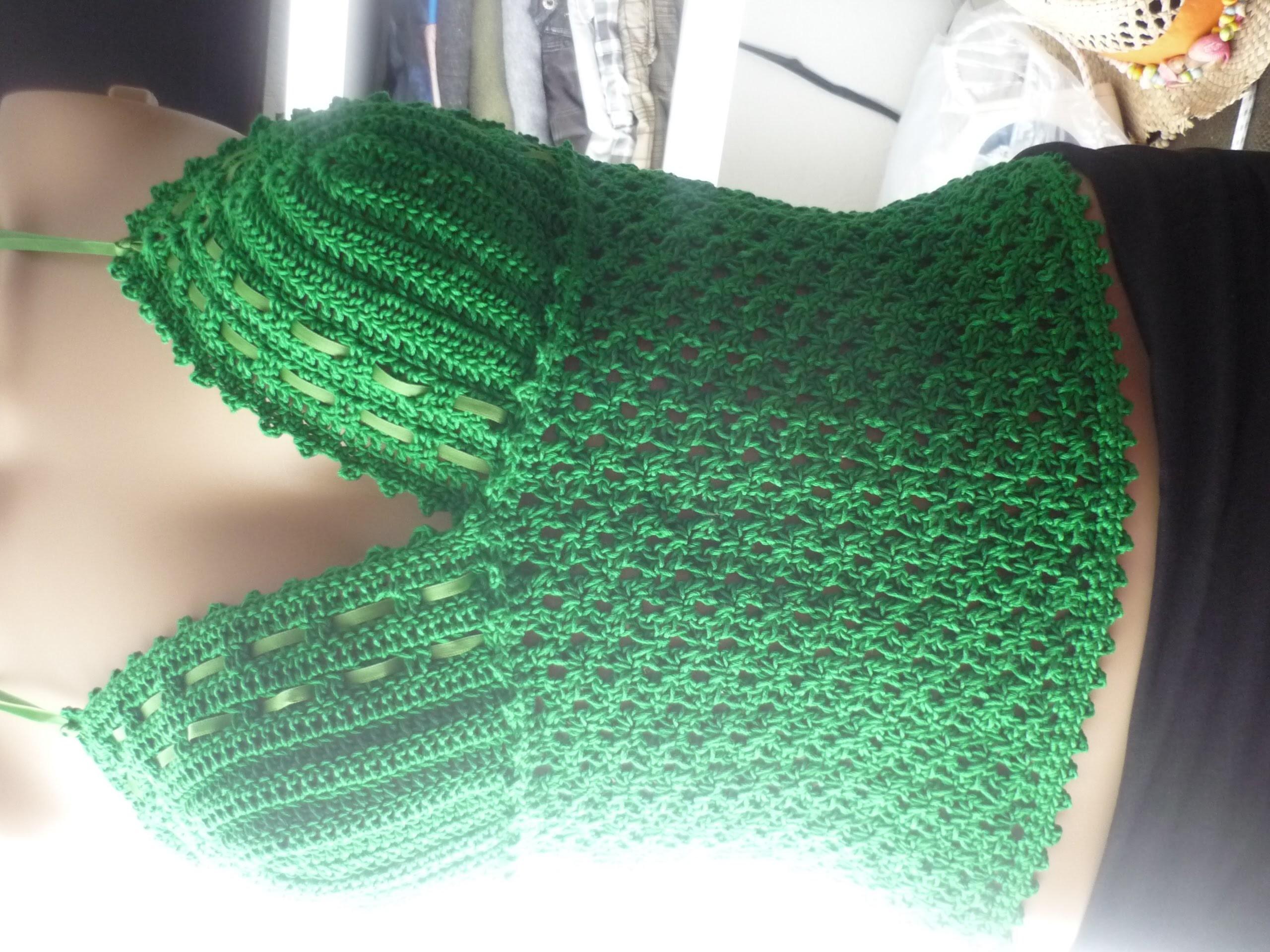 """Como fazer o Ponto do Top em croche """"Jurema"""" cropped! Häkelmaschen , Stitch"""