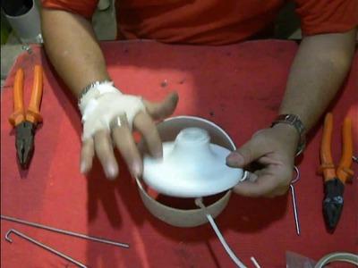Como fazer o suporte do bocal para o Lustre PVC