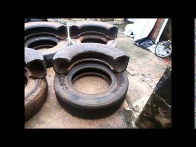 Como fazer puff de pneu de caminhão