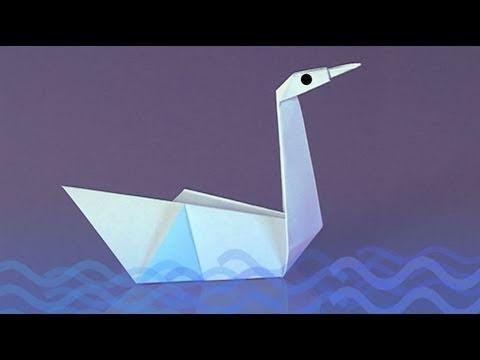 Como fazer um Cisne de papel, origami