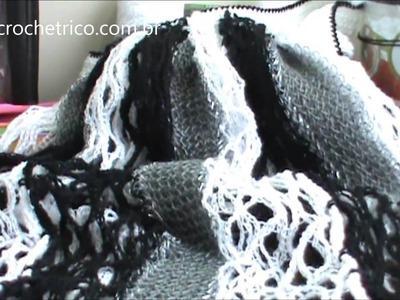 Crochê - Blusa Rede - Parte 05.07