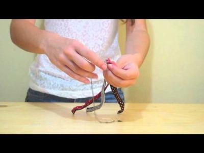 DIY: pulseira trançada com tecido