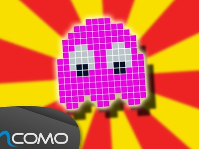 Fantasma Rosa do Pac-man - Hama Bead Tutorial Simples