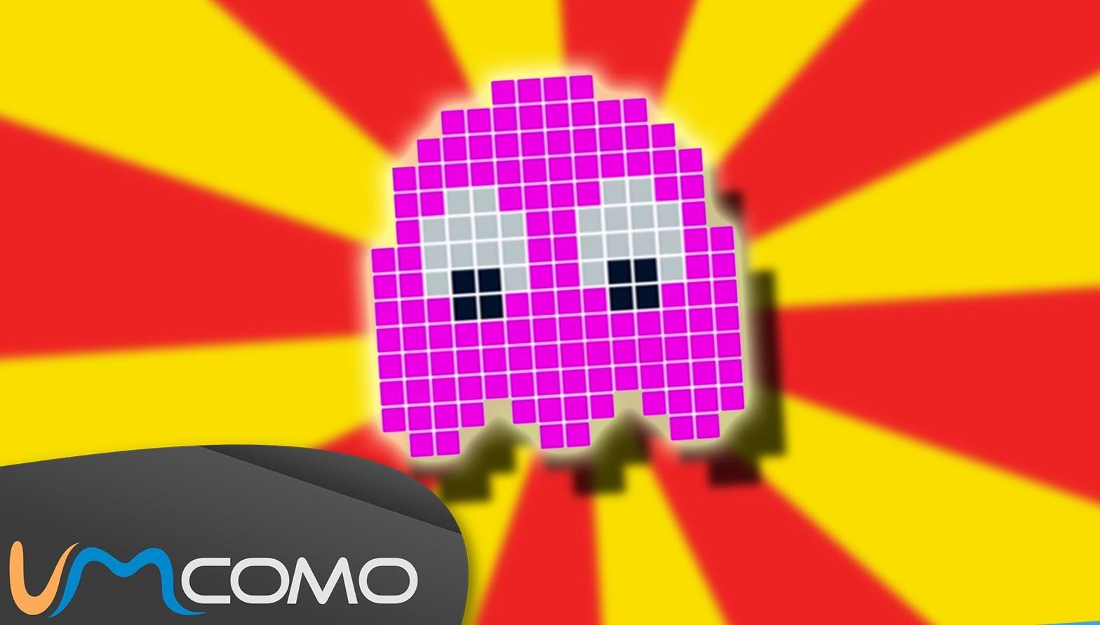 Fantasma Rosa do Pac-man - Hama Bead Tutorial Simples
