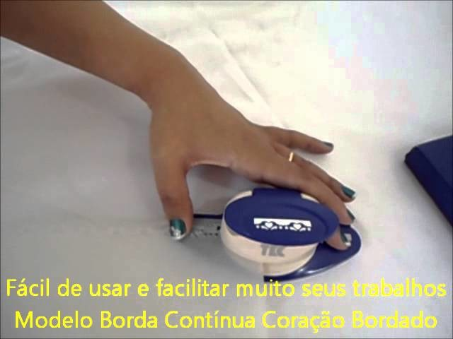 Furador Borda Continua Scrapbook e Papel Vegetal Coracao Bordado