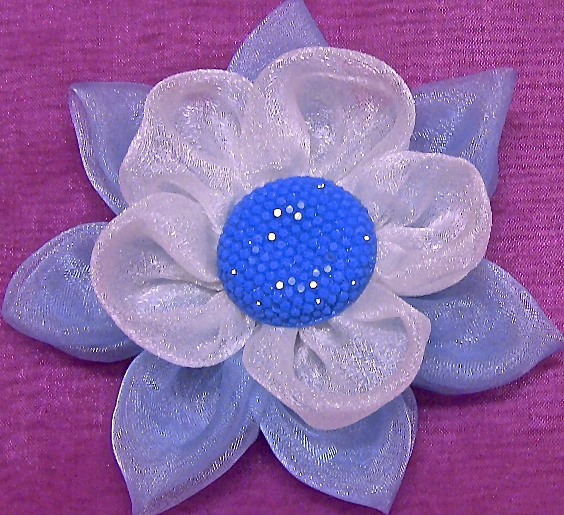HOW TO MAKE ROLLED RIBBON ROSES- fabric flowers - Flores em Organza  Passo a Passo