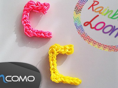 Letra C - Rainbow Loom