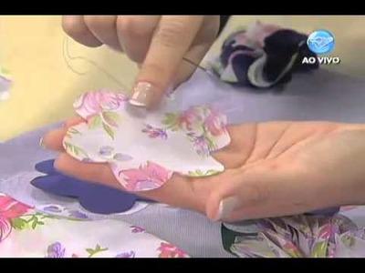 Manhã Viva - Artesanato: Customização de flores em almofadas - 27.09.13 - Parte 2
