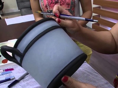Mulher.com 01.10.2014 - Pintura em Ceramica por Ana Licia Alvim
