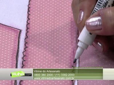 Mulher.com 12.02.2015 Patchaplique e canetinhas decorart por Marcia Caires Parte 2