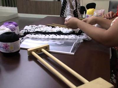 Mulher.com 21.10.2013 Eliete Massi - Crochê de grampo Parte 1.2