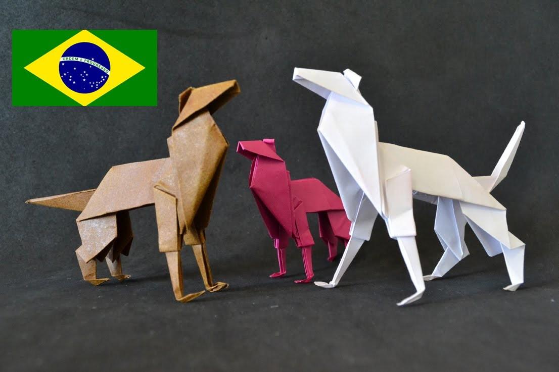 Origami: Cachorro - Tutorial com voz PT BR