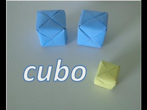 ORIGAMI- como fazer um cubo