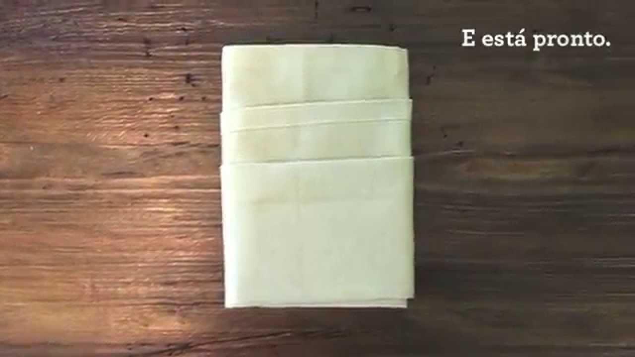 Origami de Guardanapo - Envelope com Camadas