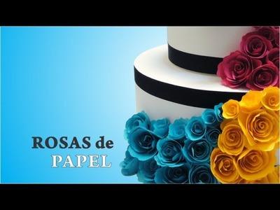 Passo a Passo Rosas de Papel para decorar bolo