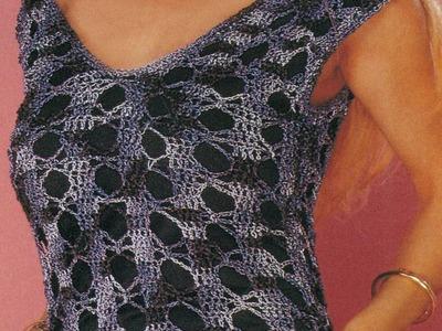 Patrón para tejer vestido calado a crochet