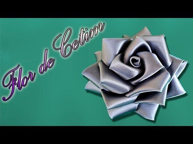 Rosa de fita de cetim | Passo a Passo - DIY