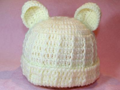 Touca Ursinho para Bebê Parte #1 - Professora Simone