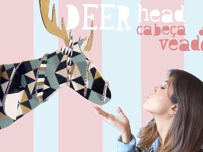 Tutorial Cabeça de veado (cervo). Deer Head by Isabelle Verona