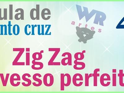 Zig Zag com avesso perfeito - Aula ponto cruz para iniciantes 4