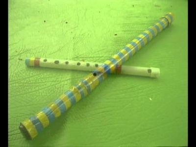 Mùsica para relaxamento com flautas e tambor de PVC e Medidas para flautas de pvc