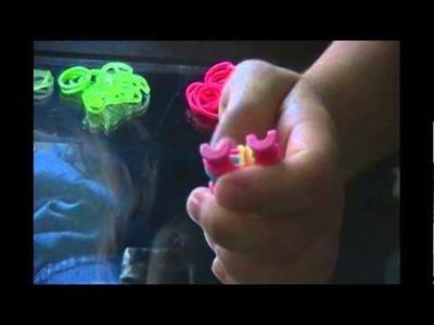 Tutorial de pulseira de Elástico Rainbow Loom  - Por Deborah Castro ! ! !
