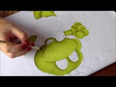 Pintura em Tecido - Sapinha secretária do lar!  Parte 1 - Artes Mariana Santos