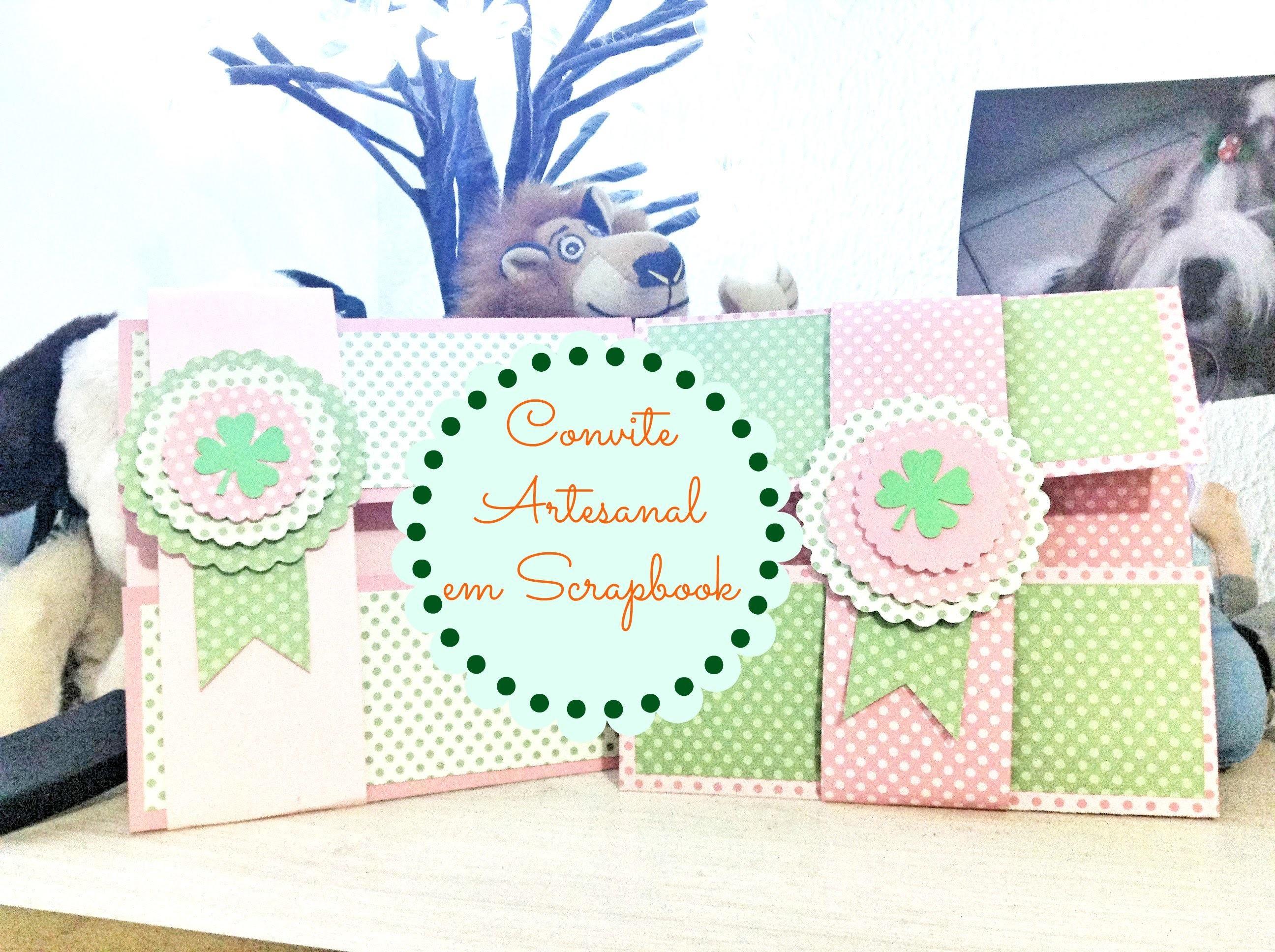 Convite Artesanal em Scrapbook