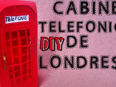 DIY: Cabine Telefônica de Londres com caixa de tinta de cabelo. Como fazer. Tutorial