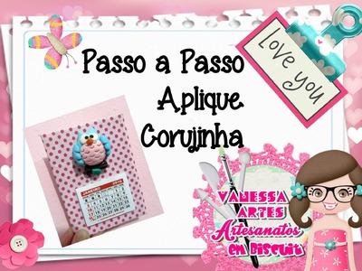 (DIY) PASSO A PASSO APLIQUE CORUJINHA