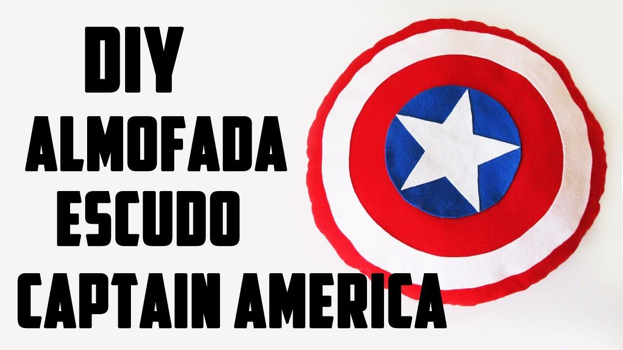 DIY: Almofada Escudo do Capitão América - Vingadores (Pillow Shield Captain America Tutorial)