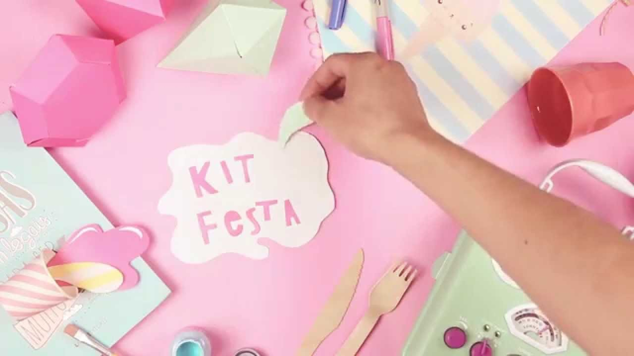 Oficina Kit Festa DIY com Blog do Math no Brasília Shopping