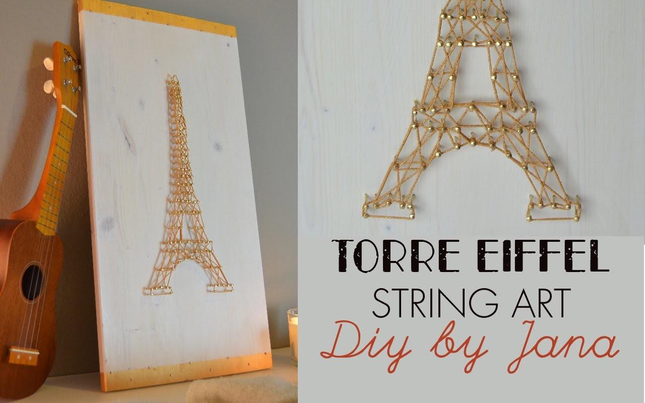 Quadro Torre Eiffel (String Art) - DIY BY JANA