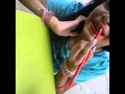 DIY:  Batom com lápis de cor em casa
