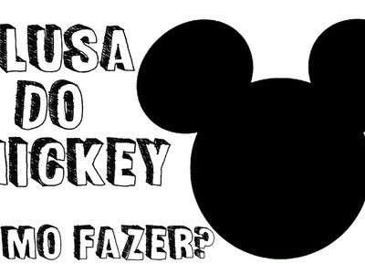 DIY: Faça você mesma,Camiseta do Mickey. Tutorial Camiseta do mickey